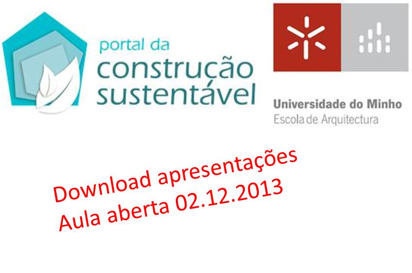 Download apresentações Aula Aberta Universidade do Minho