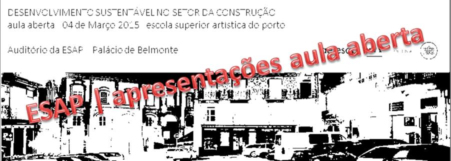 DESENVOLVIMENTO SUSTENTÁVEL NO SETOR DA CONSTRUÇÃO | APRESENTAÇÕES