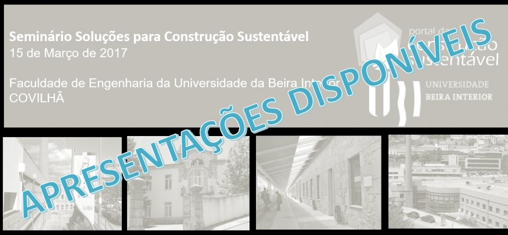 SEMINÁRIO | UBI | APRESENTAÇÕES DISPONÍVEIS