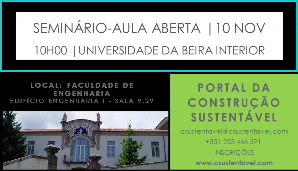 SEMINÁRIO EM AULA ABERTA | UBI | 10 NOV