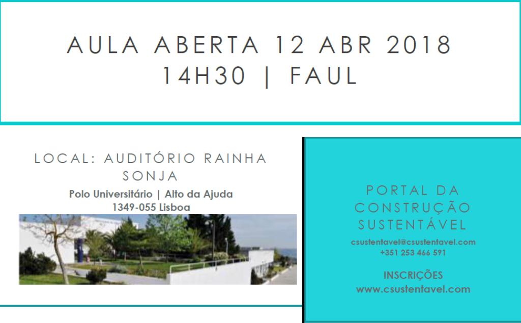 AULA ABERTA | 12 ABRIL 2018 | 14H30 | FAUL