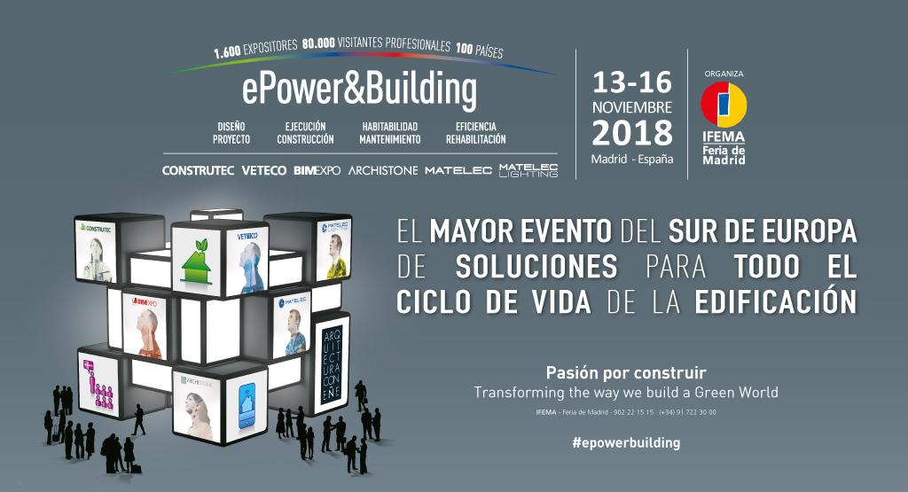 CONSTRUTEC 2018 | IFEMA - MADRID | 13 a 16 de NOVEMBRO
